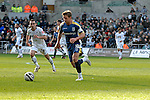 Coca-Cola Football League Championship - Swansea City v Cardiff City @ The Liberty Stadium in Swansea..Cardiff City Captain Steve McPhail is chased by Leon Britton of Swansea..
