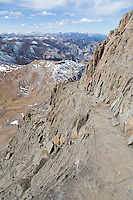View of the ledges on the summit block of Wetterhorn
