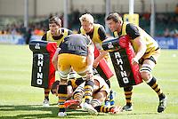 Photo: Richard Lane/Richard Lane Photography. Exeter Chiefs v London Wasps. Aviva Premiership. 14/09/2013.  Wasps warm up.