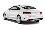 Car pictures of rear three quarter view of 2016 Mercedes Benz C-Class Sportline 2 Door Coupe Angular Rear