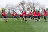 Columbus, OH - November 8, 2016: The U.S. Men's National team train in preparation for their Hexagonal round match vs Mexico at Obetz EAS Training Center.