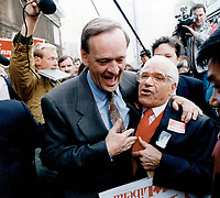 Liberal leader Jean Chretien during the Election Campaign<br /> <br /> Photo : Boris Spremo - Toronto Star archives - AQP
