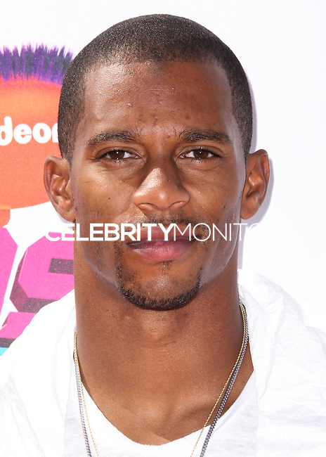 WESTWOOD, LOS ANGELES, CA, USA - JULY 17: Victor Cruz at the Nickelodeon Kids' Choice Sports Awards 2014 held at UCLA's Pauley Pavilion on July 17, 2014 in Westwood, Los Angeles, California, United States. (Photo by Xavier Collin/Celebrity Monitor)
