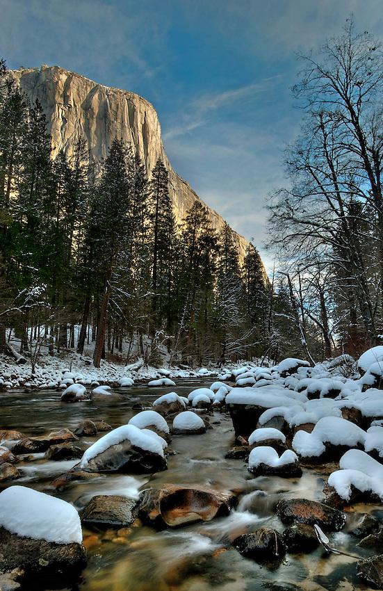 Yosemite in winter. High Dynamic Range Image.