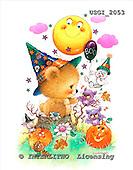 GIORDANO, CUTE ANIMALS, LUSTIGE TIERE, ANIMALITOS DIVERTIDOS, Halloween, paintings+++++,USGI2053,#AC#