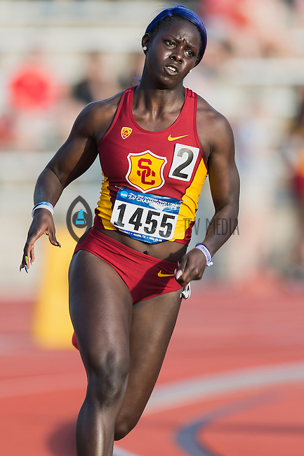 Akawkaw Ncha-Ndip of USC competes in 400 meter prelims during West Preliminary Track and Field Championships, Friday, May 29, 2015 in Austin, Tex. (Mo Khursheed/TFV Media via AP Images)