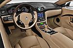 High angle dashboard view of a 2010 Maserati Granturismo S Automatic Coupe