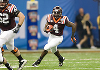 David Wilson of Virginia Tech in action during Sugar Bowl game against Michigan at Mercedes-Benz SuperDome in New Orleans, Louisiana on January 3rd, 2012.  Michigan defeated Virginia Tech, 23-20 in first overtime.