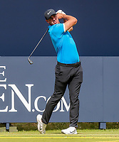 160719 | The 148th Open - Tuesday Practice<br /> <br /> Brooks Koepka of USA on the first tee during practice for the 148th Open Championship at Royal Portrush Golf Club, County Antrim, Northern Ireland. Photo by John Dickson - DICKSONDIGITAL