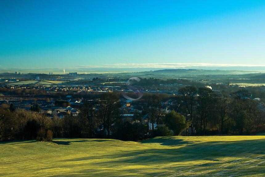 Barrhead and Glasgow from Fereneze Braes, Barrhead, East Renfrewshire