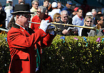31 January 2009: The bugler at Gulfstream Park in Hallandale, Florida.