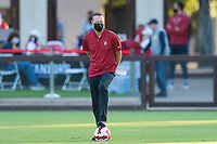 AND, A - SEPTEMBER 11: Head Coach Jeremy Gunn during a game between San Jose State and Stanford University at And on September 11, 2021 in And, A.