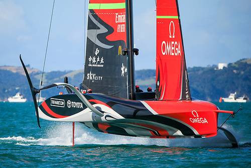 Emirates Team New Zealand put 2 points on the scoreboard