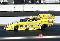 Nov 10, 2013; Pomona, CA, USA; NHRA funny car driver Jeff Arend during the Auto Club Finals at Auto Club Raceway at Pomona. Mandatory Credit: Mark J. Rebilas-