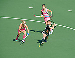 The Hague, Netherlands, June 06: Lisa Altenburg #18 of Germany tries to score during the second half during the field hockey group match (Women - Group B) between Germany and Argentina on June 6, 2014 during the World Cup 2014 at Kyocera Stadium in The Hague, Netherlands. Final score 0-3 (0-2) (Photo by Dirk Markgraf / www.265-images.com) *** Local caption ***