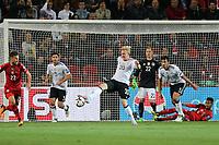 l-r: Jonas Hecgoal #3 (Germany), Julian Brandt #20 (Germany) bei Ballannahme, Marc-Andre Stegen #22 (Germany), Mats Hummels #5 (Germany), Theodor Gebre Selassie #4 (Tschechische Republik), Tschechische Republik vs. Germany, Football, WM-Qualifikation, 01.09.2017 *** Local Caption *** © pixathlon<br /> Contact: +49-40-22 63 02 60 , info@pixathlon.de