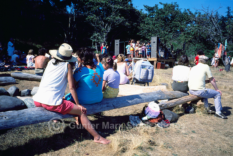 Cortez Island, BC, British Columbia, Canada - Stage Performance by Local Residents at Craft Fair