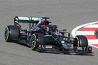 10th October 2020, Nuerburgring, Nuerburg, Germany; FIA Formula 1 Eifel Grand Prix, Qualifying sessions;  44 Lewis Hamilton GBR, Mercedes-AMG Petronas Formula One Team takes 2nd on pole