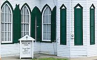 Windows on the Woolen Mill Chapel in Charlottesville, Virginia.