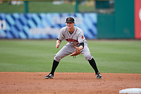 Indianapolis Indians first baseman Erich Weiss (6) during a game against the Buffalo Bisons on August 17, 2017 at Coca-Cola Field in Buffalo, New York.  Buffalo defeated Indianapolis 4-1.  (Mike Janes/Four Seam Images)