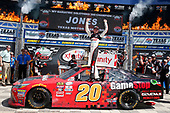 2017 NASCAR Xfinity Series<br /> My Bariatric Solutions 300<br /> Texas Motor Speedway, Fort Worth, TX USA<br /> Saturday 8 April 2017<br /> Erik Jones, Game Stop/ GAEMS Toyota Camry celebrates his victory<br /> World Copyright: Lesley Ann Miller/LAT Images<br /> ref: Digital Image lam_170408TX29506
