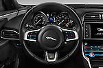 Car pictures of steering wheel view of a 2018 Jaguar XE 4dr-Sdn-20d-R-Sport-RWD 4 Door Sedan Steering Wheel