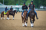 LOUISVILLE, KY - MAY 04: Land Over Sea gallops in preparation for the Kentucky Oaks at Churchill Downs on May 04, 2016 in Louisville, Kentucky. (Photo by Zoe Metz/Eclipse Sportswire/Getty Images)