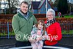 Michael and Chloe Daly with Mary Finnucane enjoying the Listowel town park on New Years Eve.