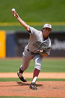 Relief pitcher Kevin Moran #34 of the Boston College Eagles in action versus the Miami Hurricanes at Durham Bulls Athletic Park May 22, 2009 in Durham, North Carolina.  (Photo by Brian Westerholt / Four Seam Images)