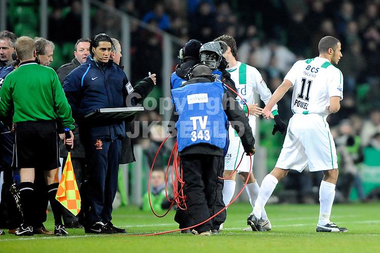 voetbal fc groningen - sc heerenveen eredivisie seizoen 2008-2009 28-12-2008  laatste optreden berry powel voor groningen. fotograaf jan kanning . . .