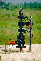 Capped head of an oil well, Houston, Texes