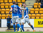 St Johnstone v Stirling Albion…30.07.16  McDiarmid Park. Betfred Cup<br />Steven MacLean celebrates his goal<br />Picture by Graeme Hart.<br />Copyright Perthshire Picture Agency<br />Tel: 01738 623350  Mobile: 07990 594431