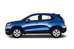 Car Driver side profile view of a 2016 Chevrolet Trax LS 5 Door SUV Side View