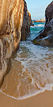 Virgin Gorda, British Virgin Islands in the  Caribbean<br /> Narrow pool among the granite boulders on the beach known as The Crawl in Spring Bay National Park