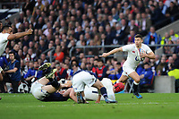 Ben Youngs of England makes a break during the RBS 6 Nations match between England and Scotland at Twickenham Stadium on Saturday 11th March 2017 (Photo by Rob Munro/Stewart Communications)