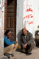 Tripoli, Libya - Libyan Men Talking, Tripoli Medina (Old City).