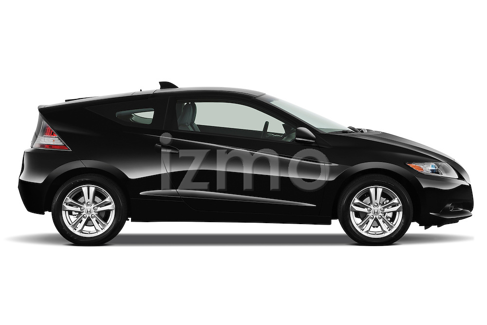 Passenger side profile view of a 2011 Honda CR-Z EX Nav Hybrid Hatchback.