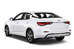 Car pictures of rear three quarter view of 2020 Nissan Sentra SV 4 Door Sedan Angular Rear