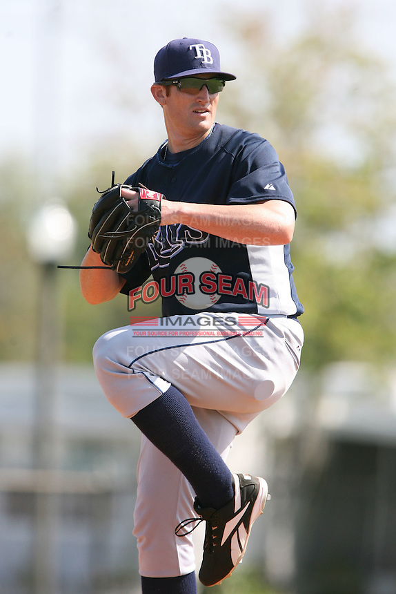 March 19th 2008:  Nick Debarr of the Tampa Bay Devil Rays minor league system during Spring Training at the Raymond A. Naimoli Complex in St. Petersburg, FL.  Photo by:  Mike Janes/Four Seam Images