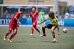HKFA Red Dragons (in red) vs Wellington Phoenix (in yellow) during their Main Tournament Plate Semi-Final match, part of the HKFC Citi Soccer Sevens 2017 on 28 May 2017 at the Hong Kong Football Club, Hong Kong, China. Photo by Marcio Rodrigo Machado / Power Sport Images
