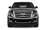 Car photography straight front view of a 2018 Cadillac Escalade ESV 2WD Luxury 5 Door SUV Front View