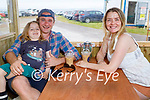 Relaxing and enjoying the outdoor dining pods in Ballybunion on Sunday, l to r: Bodhi, Paddy and Caroline O'Farrell.