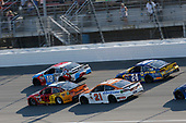 Monster Energy NASCAR Cup Series<br /> FireKeepers Casino 400<br /> Michigan International Speedway, Brooklyn, MI USA<br /> Sunday 18 June 2017<br /> Kyle Larson, Chip Ganassi Racing, Cars 3 Target Chevrolet SS Kyle Busch, Joe Gibbs Racing, M&M's Red, White & Blue Toyota Camry Ryan Blaney, Wood Brothers Racing, Omnicraft Auto Parts Ford Fusion Chase Elliott, Hendrick Motorsports, NAPA Chevrolet SS<br /> World Copyright: Matthew T. Thacker<br /> LAT Images