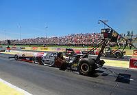 May 22, 2011; Topeka, KS, USA: NHRA top fuel dragster driver Larry Dixon during the Summer Nationals at Heartland Park Topeka. Mandatory Credit: Mark J. Rebilas-
