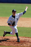 Xavier Musketeers Jon Richard #33 during a game vs. the Akron Zips at Chain of Lakes Park in Winter Haven, Florida;  March 11, 2011.  Xavier defeated Akron 7-0.  Photo By Mike Janes/Four Seam Images