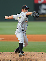 June 14, 2009: LHP Josh Satow (12) of the Bowling Green Hot Rods, Class A affiliate of the Tampa Bay Rays, in a game against the Greenville Drive at Fluor Field at the West End in Greenville, S.C. Photo by: Tom Priddy/Four Seam Images
