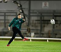 14th November 2020; Galway Sportsgrounds, Galway, Connacht, Ireland; Guinness Pro 14 Rugby, Connacht versus Scarlets; Jack Carty practices kicking during the Connacht warm up