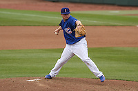 Iowa Cubs pitcher Blake Cooper (37) delivers a pitch during a Pacific Coast League game against the Colorado Springs Sky Sox on May 11th, 2015 at Principal Park in Des Moines, Iowa.  Colorado Springs defeated Iowa 13-7.  (Brad Krause/Four Seam Images)