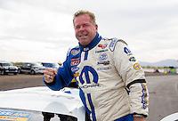 Feb 23, 2014; Chandler, AZ, USA; NHRA pro stock driver Allen Johnson celebrates after winning the Carquest Auto Parts Nationals at Wild Horse Pass Motorsports Park. Mandatory Credit: Mark J. Rebilas-USA TODAY Sports