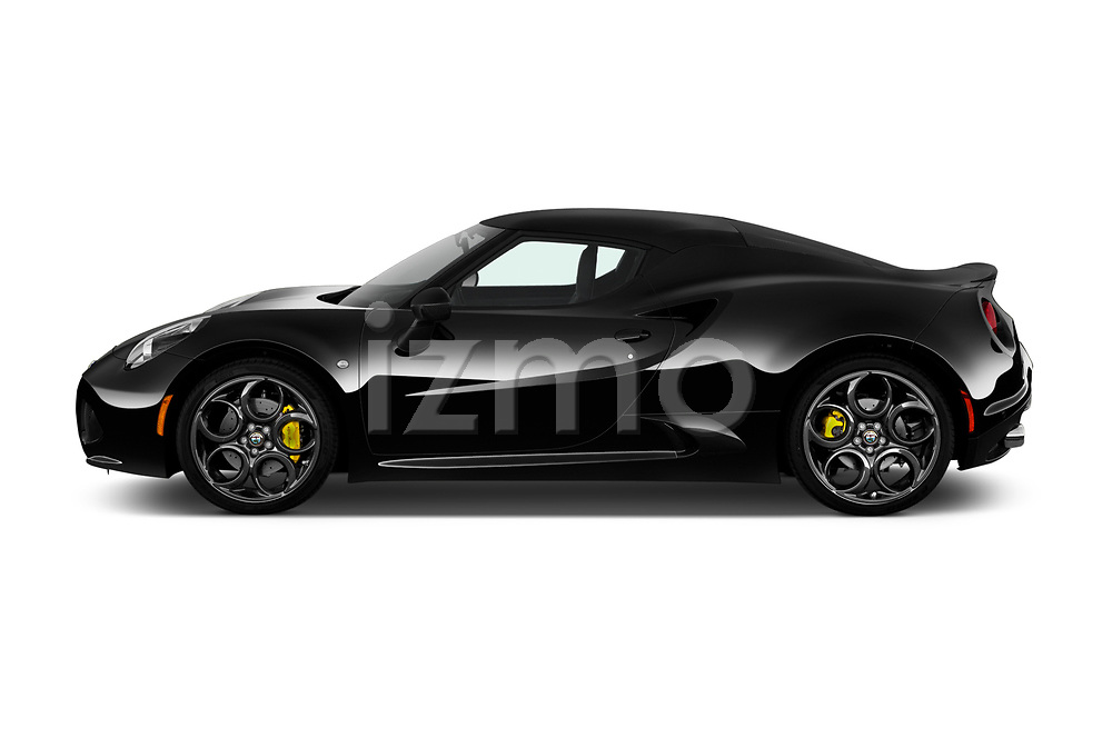 Car driver side profile view of a 2018 Alfa Romeo 4C Base 2 Door Coupe
